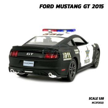 โมเดลรถตำรวจ ฟอร์ดมัสแตง GT 2015 (Scale 1:38) รถเหล็ก ราคาถูก