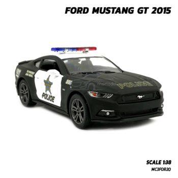 โมเดลรถตำรวจ ฟอร์ดมัสแตง GT 2015 (Scale 1:38) รถเหล็กโมเดล มีลานดึงปล่อยวิ่งได้