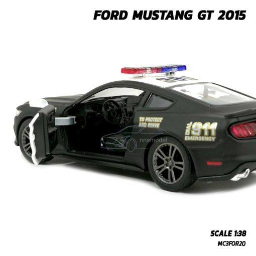 โมเดลรถตำรวจ ฟอร์ดมัสแตง GT 2015 (Scale 1:38) ภายในรถจำลองเหมือนจริง