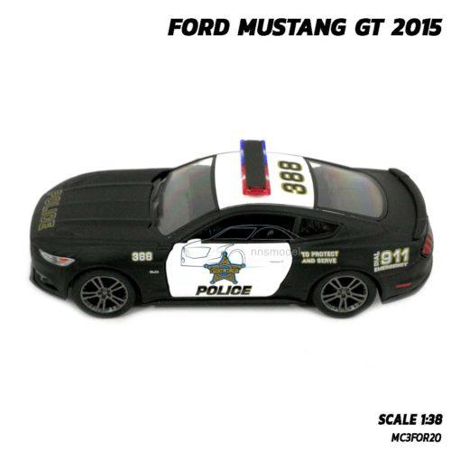โมเดลรถตำรวจ ฟอร์ดมัสแตง GT 2015 (Scale 1:38) โมเดลรถประกอบสำเร็จ