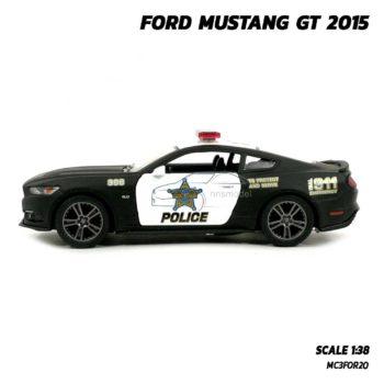 โมเดลรถตำรวจ ฟอร์ดมัสแตง GT 2015 (Scale 1:38) โมเดลรถประกอบสำเร็จ พร้อมตั้งโชว์