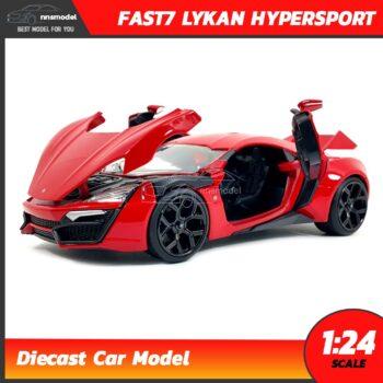 โมเดลรถฟาส Fast7 Lykan Hypersport (1:24) Jada Toy เปิดฝากระโปรงหน้าได้