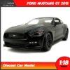 โมเดลรถ มัสแตง Ford Mustang GT 2015 (1:18) สีดำด้าน