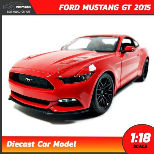 โมเดลรถ มัสแตง Ford Mustang GT 2015 (1:18) สีแดง