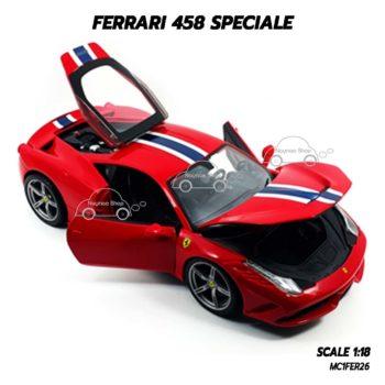 โมเดลรถ เฟอร์รารี่ Ferrari 458 Speciale (1:18) เปิดได้ครบเหมือนจริง