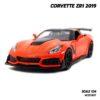 โมเดลรถ CORVETTE ZR1 2019 สีส้ม (Scale 1:24) model รถเหล็ก พร้อมตั้งโชว์