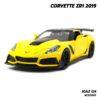 โมเดลรถ CORVETTE ZR1 2019 สีเหลือง (Scale 1:24) โมเดลรถสปอร์ต จำลองเหมือนจริง