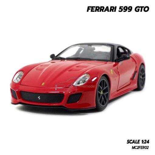 โมเดลรถ FERRARI 599 GTO สีแดง (Scale 1:24)