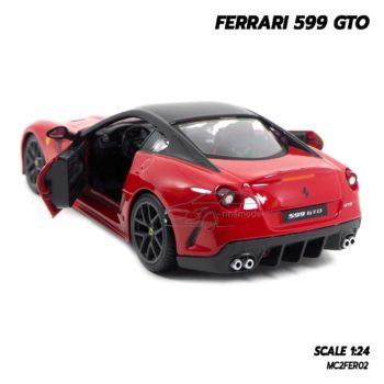 โมเดลรถ FERRARI 599 GTO สีแดง (Scale 1:24) โมเดลเฟอร์รารี่แท้ เปิดประตูรถได้