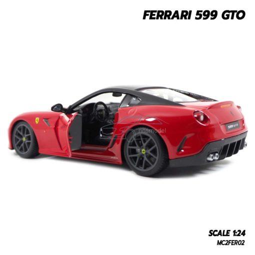 โมเดลรถ FERRARI 599 GTO สีแดง (Scale 1:24) โมเดลเฟอร์รารี่แท้ ภายในจำลองเหมือนจริง