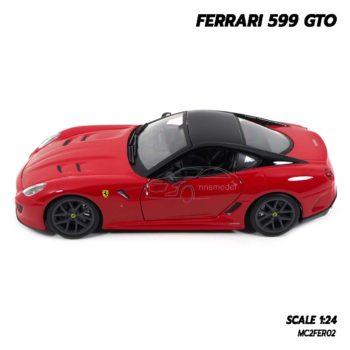 โมเดลรถ FERRARI 599 GTO สีแดง (Scale 1:24) โมเดลเฟอร์รารี่แท้ ผลิตโดยแบรนด์ Burago