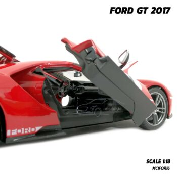 โมเดลรถสปอร์ต FORD GT 2017 สีแดง (Scale 1:18) โมเดลรถจำลอง พร้อมตั้งโชว์