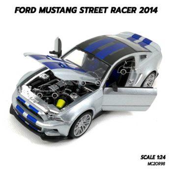 โมเดลรถ FORD MUSTANG STREET RACER 2014 (1:24) เครื่องยนต์เหมือนจริง