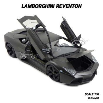 โมเดลรถ Lamborghini Reventon สีเทาดำ (1:18) รุ่นเปิดได้ครบ