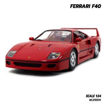 โมเดลเฟอร์รารี่ FERRARI F40 สีแดง (1:24) รถโมเดลของแท้