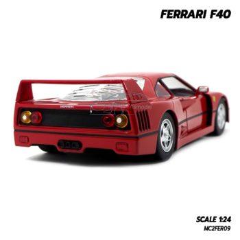 โมเดลเฟอร์รารี่ FERRARI F40 สีแดง (1:24) รถจำลองเหมือนจริง