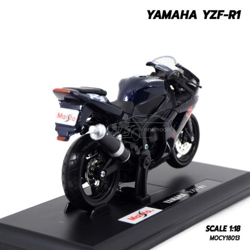 โมเดลบิ๊กไบค์ YAMAHA YZF-R1 สีดำ (Scale 1:18) โมเดลประกอบสำเร็จ