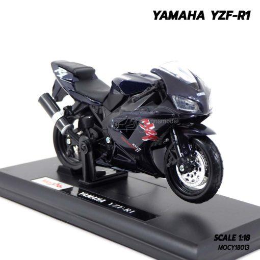 โมเดลบิ๊กไบค์ YAMAHA YZF-R1 สีดำ (Scale 1:18) พร้อมฐานวางตั้งโชว์