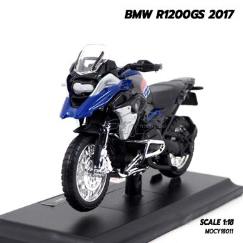 โมเดลมอเตอร์ไซด์ BMW R1200GS 2017 (Scale 1:18)
