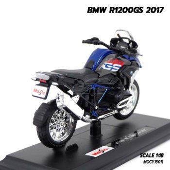โมเดลมอเตอร์ไซด์ BMW R1200GS 2017 (Scale 1:18) โมเดลประกอบสำเร็จ