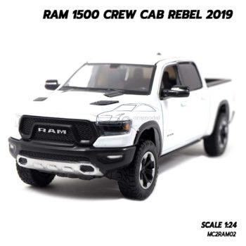 โมเดลรถกระบะ RAM 1500 CREW CAB REBEL 2019 สีขาว (1:24)