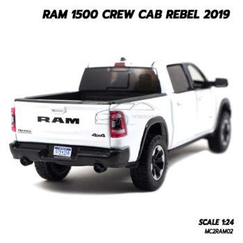 โมเดลรถกระบะ RAM 1500 CREW CAB REBEL 2019 สีขาว (1:24) กระบะอเมริกันพันธ์แกร่ง