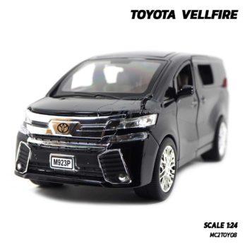 โมเดลรถตู้ TOYOTA VELLFIRE สีดำ (Scale 1:24)