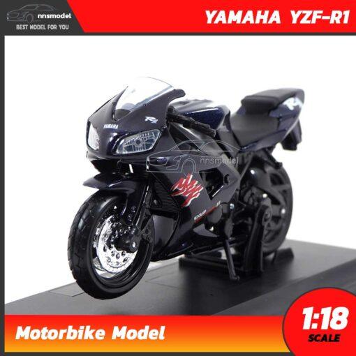 โมเดลรถบิ๊กไบค์ YAMAHA YZF-R1 สีดำ (1:18)