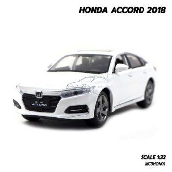โมเดลรถ ฮอนด้า HONDA ACCORD 2018 สีขาว (1:32)