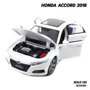 โมเดลรถ ฮอนด้า HONDA ACCORD 2018 สีขาว (1:32) เครื่องยนต์เหมือนจริง