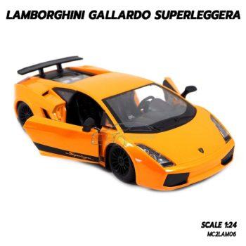 โมเดลรถ LAMBORGHINI GALLARDO SUPERLEGGERA สีส้ม (1:24) เปิดประตูรถซ้ายขวาได้