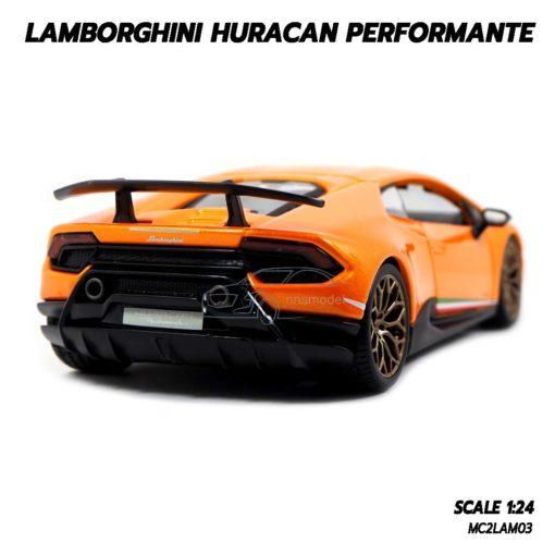 โมเดล LAMBORGHINI HURACAN PERFORMANTE สีส้ม (1:24) รถโมเดลเหมือนจริง