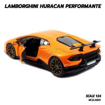 โมเดล LAMBORGHINI HURACAN PERFORMANTE สีส้ม (1:24) โมเดลรถประกอบสำเร็จ