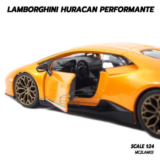 โมเดล LAMBORGHINI HURACAN PERFORMANTE สีส้ม (1:24) ผลิตโดย burago