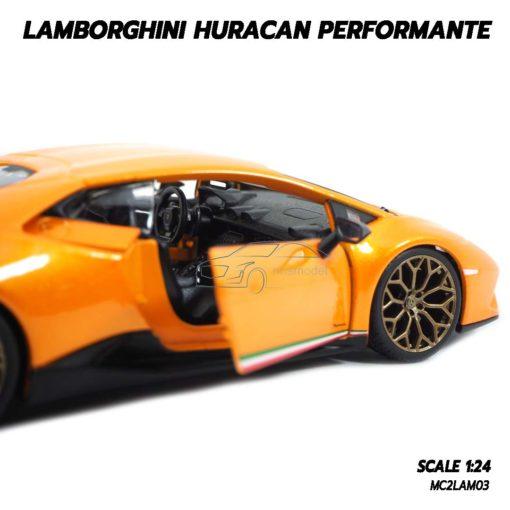 โมเดล LAMBORGHINI HURACAN PERFORMANTE สีส้ม (1:24) เป็นของขวัญแด่คนพิเศษ