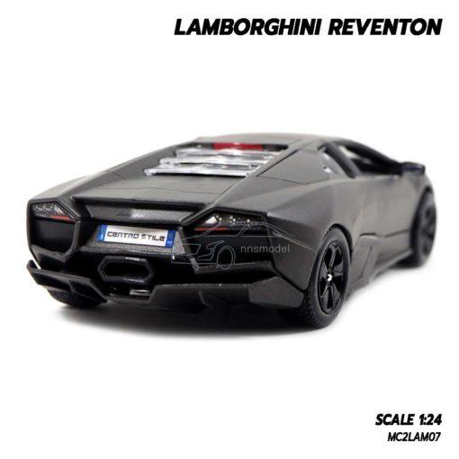 โมเดลรถ Lamborghini Reventon สีเทาดำ (1:24) โมเดลจำลองเหมือนจริง
