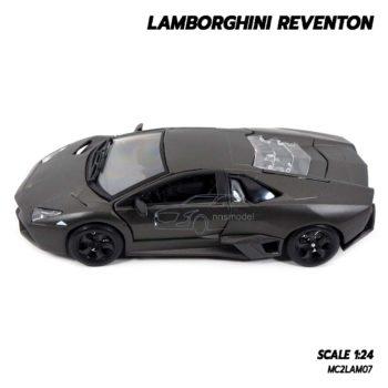 โมเดลรถ Lamborghini Reventon สีเทาดำ (1:24) โมเดลรถประกอบสำเร็จ พร้อมตั้งโชว์
