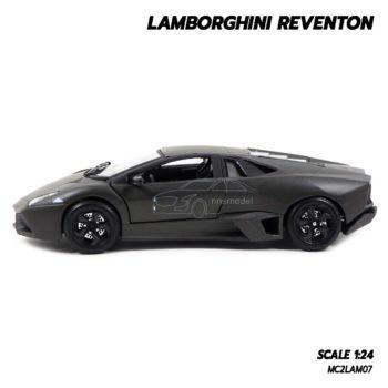 โมเดลรถ Lamborghini Reventon สีเทาดำ (1:24) รถโมเดลประกอบสำเร็จ พร้อมตั้งโชว์