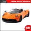 โมเดลรถ PAGANI HUAYRA ROADSTER สีส้ม (Scale 1:24)