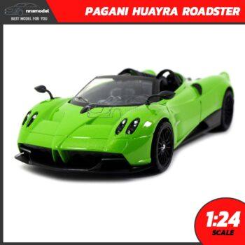 โมเดลรถสปอร์ต PAGANI HUAYRA ROADSTER สีเขียว (Scale 1:24)