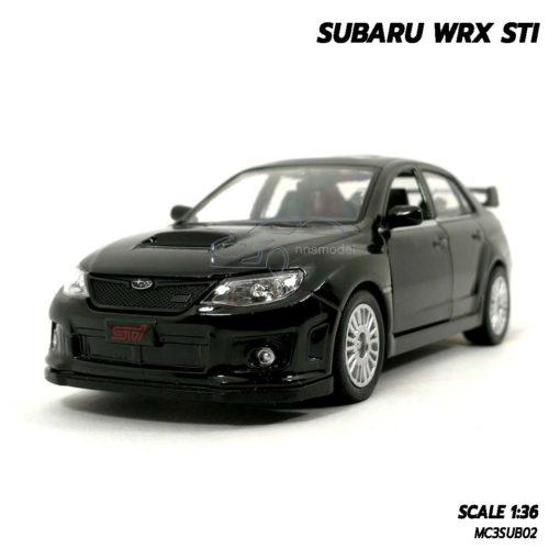 โมเดลรถ SUBARU WRX STI สีดำ (1:36) โมเดลประกอบสำเร็จ