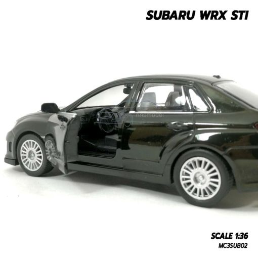 โมเดลรถ SUBARU WRX STI สีดำ (1:36) เปิดประตูรถซ้ายขวาได้