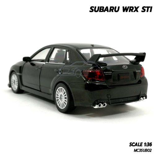โมเดลรถ SUBARU WRX STI สีดำ (1:36) รถเหล็กประกอบสำเร็จ พร้อมตั้งโชว์