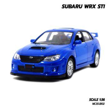 โมเดลรถ SUBARU WRX STI สีน้ำเงิน (1:36) รถโมเดลประกอบสำเร็จ