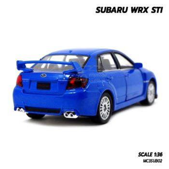 โมเดลรถ SUBARU WRX STI สีน้ำเงิน (1:36) รถโมเดล ราคาถูก