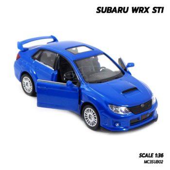 โมเดลรถ SUBARU WRX STI สีน้ำเงิน (1:36) รถโมเดล ขายราคาส่ง