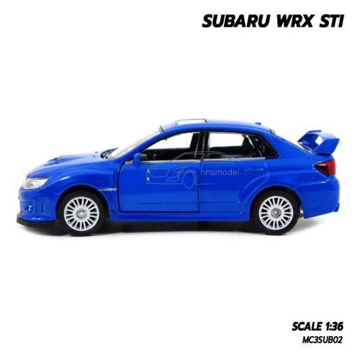โมเดลรถ SUBARU WRX STI สีน้ำเงิน (1:36) รถเหล็ก ราคาถูก