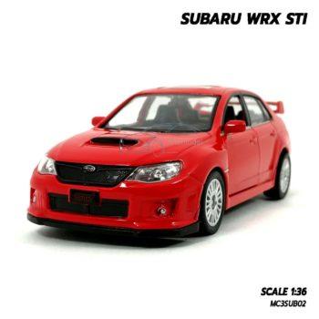 โมเดลรถ SUBARU WRX STI สีแดง (1:36) รถเหล็กประกอบสำเร็จ พร้อมตั้งโชว์