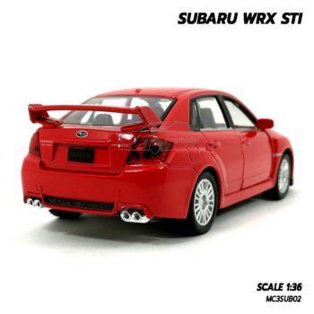 โมเดลรถ SUBARU WRX STI สีแดง (1:36) โมเดลรถเหล็กราคาถูก