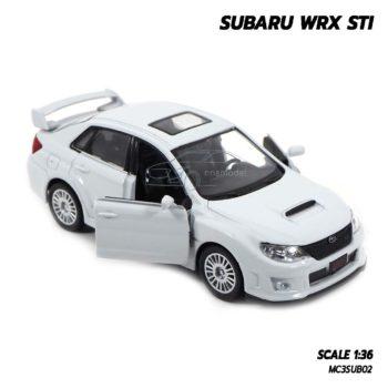 โมเดลรถ SUBARU WRX STI สีขาว (1:36) รถเหล็ก ประกอบสำเร็จ